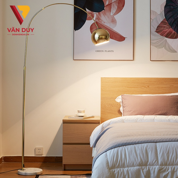 Đèn cây phòng khách, đèn cây đọc sách, đèn góc sofa, đèn cây phòng ngủ 6968