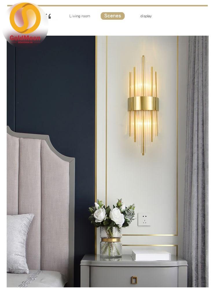 Đèn tường pha lê, đèn cầu thang, đèn tường phòng ngủ 4501