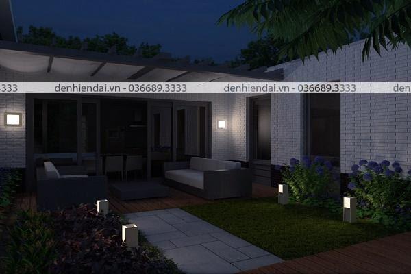 Đèn vách ngoại thất giúp không gian ngôi nhà thêm sang trọng